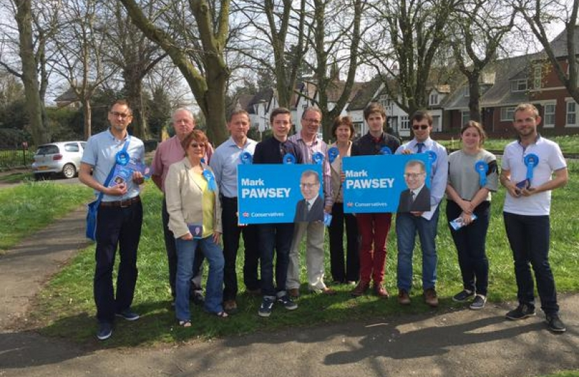Campaigning all year round with Mark Pawsey MP