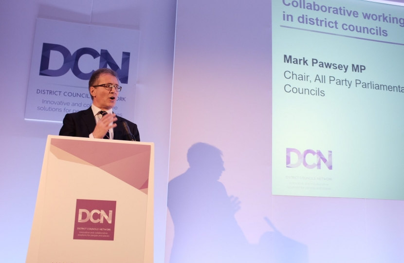 MP speaking at DCN conference