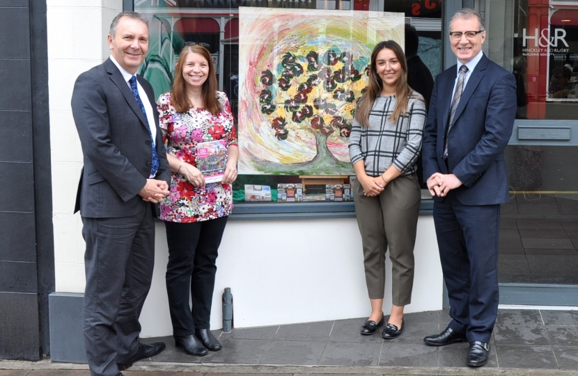 Mark visits local branch of Hinckley and Rugby Building Society