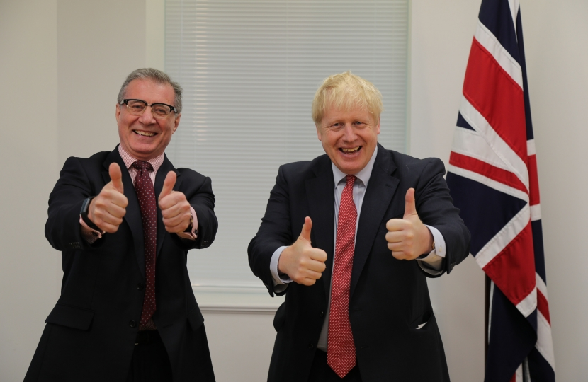 Mark Pawsey & Boris Johnson - thumbs up