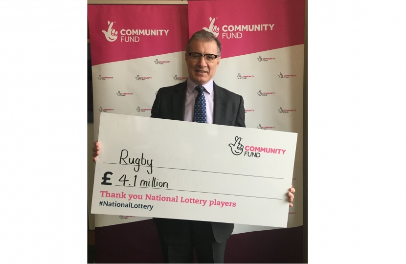 Mark Pawsey MP with the £4.1 million funding from National Lottery