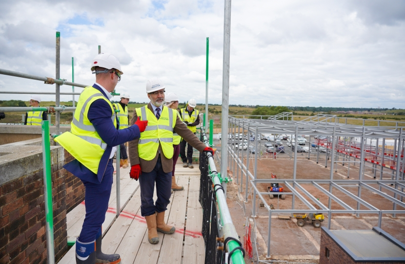 During his visit, Mark was able to see the progress of development at Houlton School, which is due to open its doors in September 2020