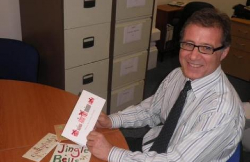 Mark Pawsey MP launches his Christmas Card competition 2012
