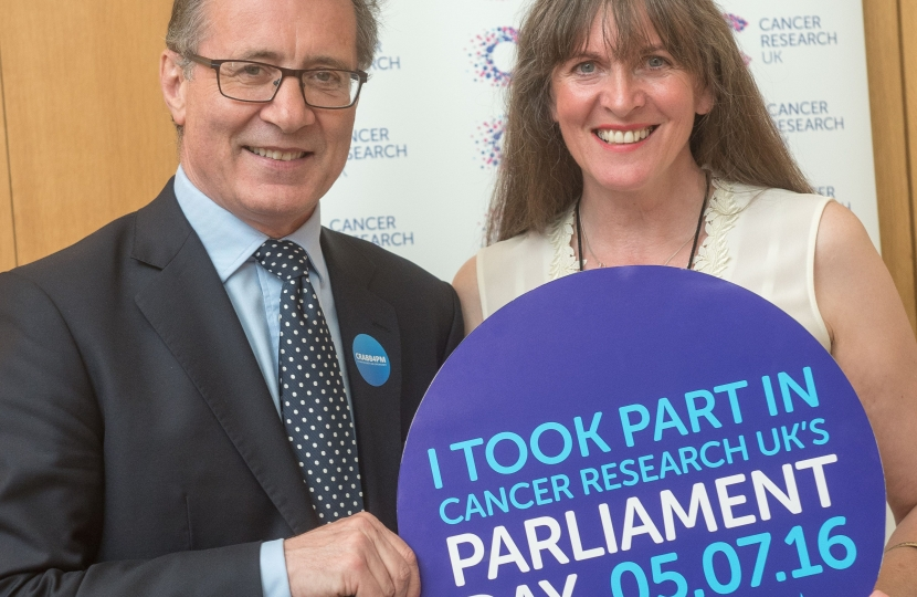 Mark Pawsey MP, Cancer Research campaign