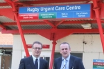 Mark Pawsey MP with Carl Holland at Hospital of St. Cross, Rugby